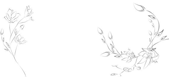 Illustration Blumen Geburtstagswein