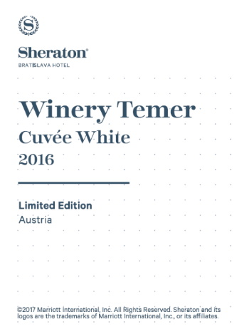 Sheraton Hotel Winery Temer Cuvée White 2016